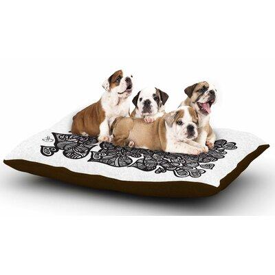 Adriana De Leon 'Hidden Hearts' Dog Pillow with Fleece Cozy Top