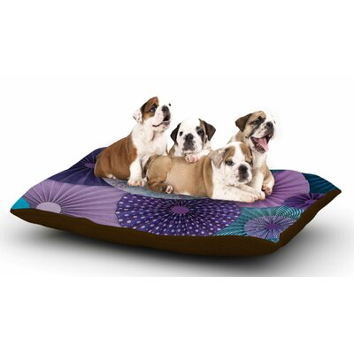 Heidi Jennings Amethyst Glacier Dog Pillow with Fleece Cozy Top