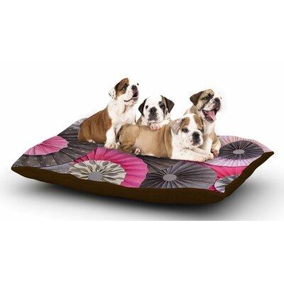 Heidi Jennings Bubble Gum Dog Pillow with Fleece Cozy Top