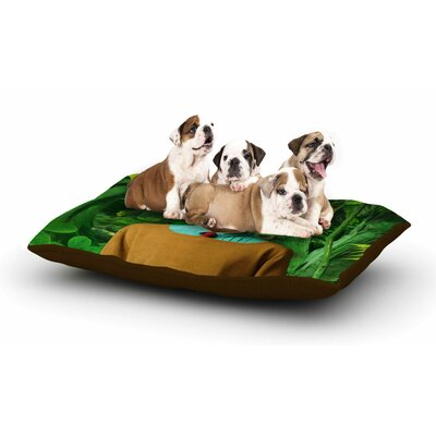 Natt Into the Leaves N4 Antelope Dog Pillow with Fleece Cozy Top