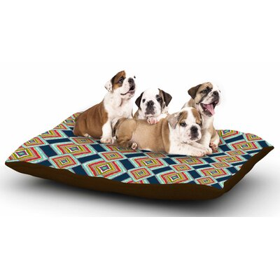 Amy Reber Rainbow Ikat Abstract Dog Pillow with Fleece Cozy Top