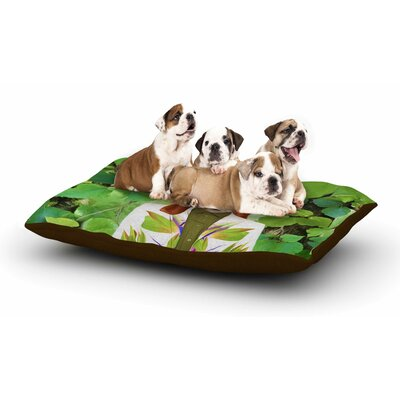 Natt Into the Leaves N6 Dog Dog Pillow with Fleece Cozy Top