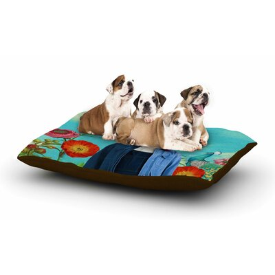 Natt Family Portrait N2 Cow Dog Pillow with Fleece Cozy Top