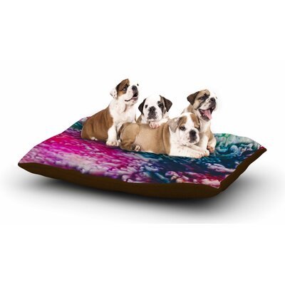 Malia Shields Splash Abstract Ink Magenta Dog Pillow with Fleece Cozy Top