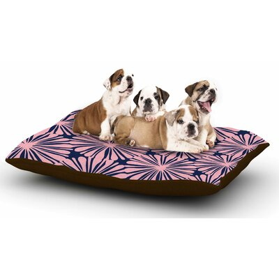 Amy Reber Pink Daisy Dog Pillow with Fleece Cozy Top