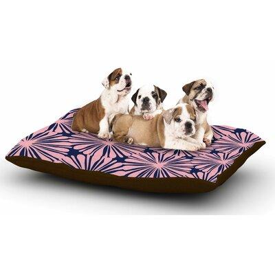 Amy Reber Pink Daisy Dog Pillow with Fleece Cozy Top
