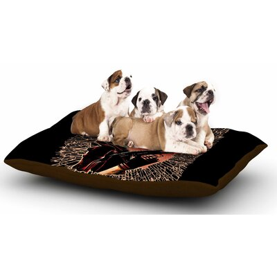 Barmalisirtb War is Over Dog Pillow with Fleece Cozy Top
