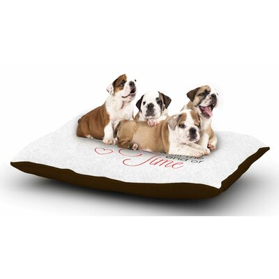 NL Designs I Will Love You Dog Pillow with Fleece Cozy Top