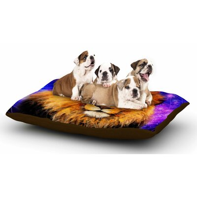 NL Designs Space Lion Dog Pillow with Fleece Cozy Top