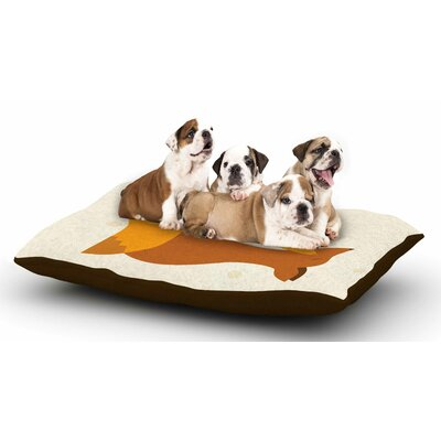 NL Designs Foxy Love Dog Pillow with Fleece Cozy Top
