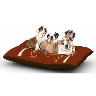BarmalisiRTB Weekly Menu Digital Dog Pillow with Fleece Cozy Top