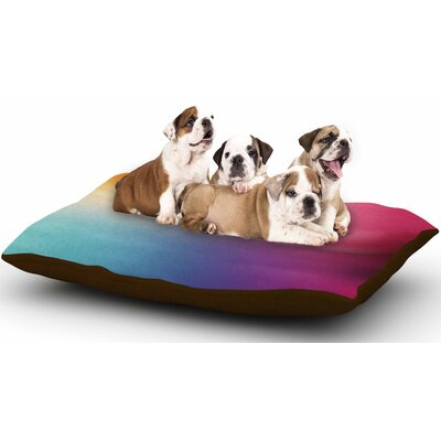 Chelsea Victoria Color Rush Love Dog Pillow with Fleece Cozy Top