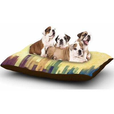 Cvetelina Todorova Cloud City Dog Pillow with Fleece Cozy Top