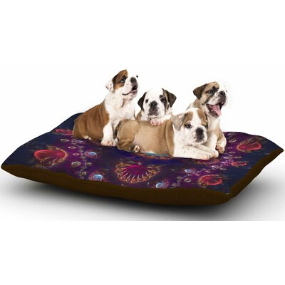 Cvetelina Todorova 'Royal Jewels' Dog Pillow with Fleece Cozy Top