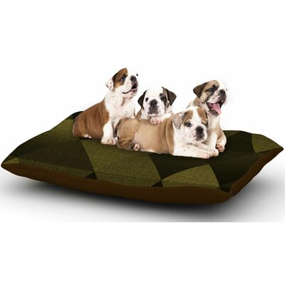 Cvetelina Todorova Golden Triangles Dog Pillow with Fleece Cozy Top