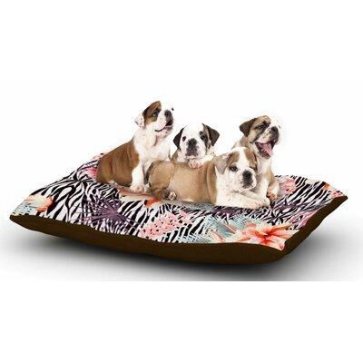 Nika Martinez Tropical Fusion Floral Dog Pillow with Fleece Cozy Top