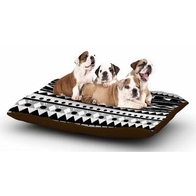 Nika Martinez Black Hurit Dog Pillow with Fleece Cozy Top