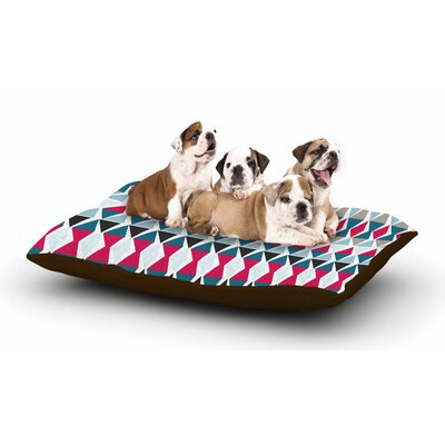 Michelle Drew Triangle Circus Drums Dog Pillow with Fleece Cozy Top