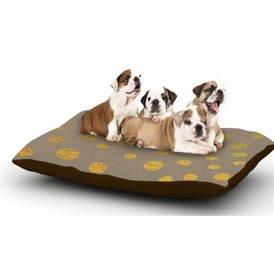 Nika Martinez Earth Golden Dots Dog Pillow with Fleece Cozy Top