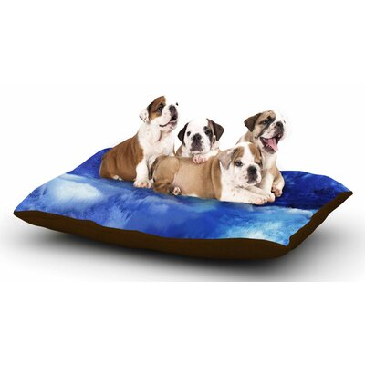 Nina May Saltwater Collage Dog Pillow with Fleece Cozy Top