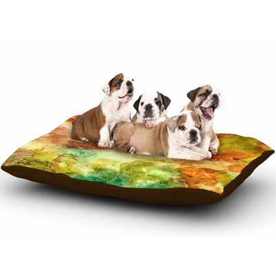 Rosie Brown Fall Bouqet Dog Pillow with Fleece Cozy Top Size: Large (50 W x 40 D x 8 H)