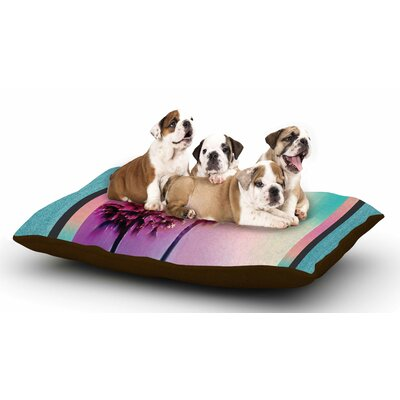 Nina May LA Rainbow Dog Pillow with Fleece Cozy Top