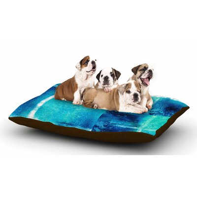 Nina May Saltwater Study Dog Pillow with Fleece Cozy Top