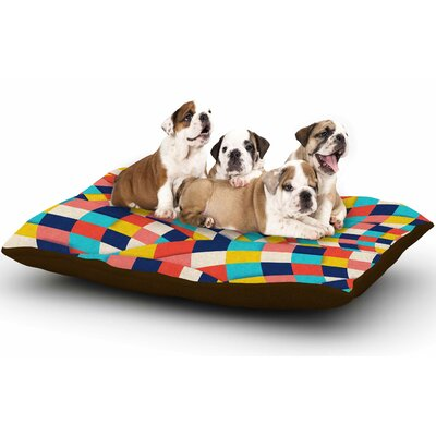 Danny Ivan Curved Squares Dog Pillow with Fleece Cozy Top Size: Small (40 W x 30 D x 8 H)