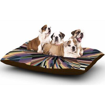 Danny Ivan Love Affair Geometric Dog Pillow with Fleece Cozy Top