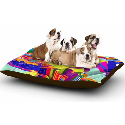 Danny Ivan To Swim Abstract Dog Pillow with Fleece Cozy Top
