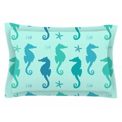 Afe Images Seahorse Illustration Sham Size: Queen
