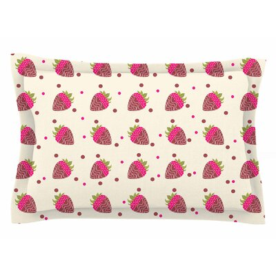 Afe Images Chocolate Strawberries Digital Sham Size: Queen