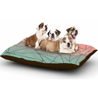 Fimbis Bodhi Rays Geometric Illustration Dog Pillow with Fleece Cozy Top