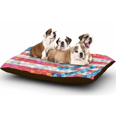 Fimbis Abstract America Digital Dog Pillow with Fleece Cozy Top