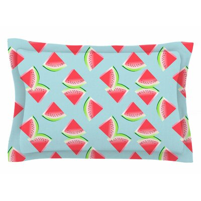 Afe Images Watermelon Slices Illustration Sham Size: Queen