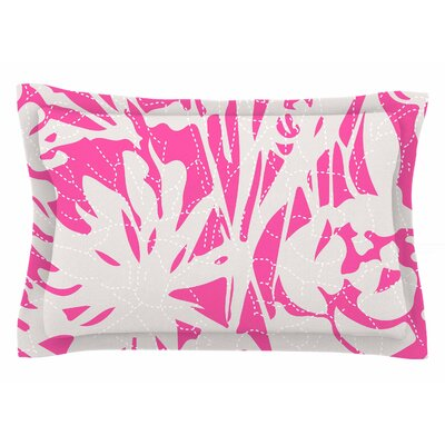 Patternmuse Inky Floral Peony Illustration Sham Size: King