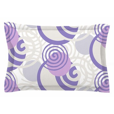 Patternmuse Dynamic Swirls Purple Digital Sham Size: Queen