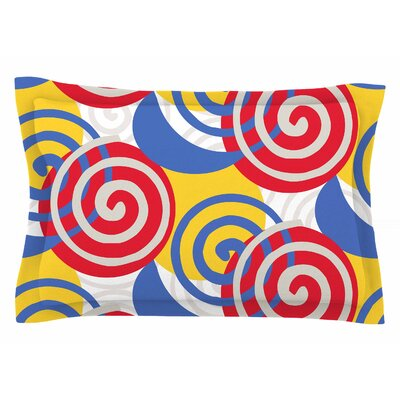 Patternmuse Dynamic Swirls Multi Digital Sham Size: Queen