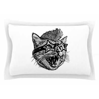 BarmalisiRTB Funky Cat Illustration Sham Size: King