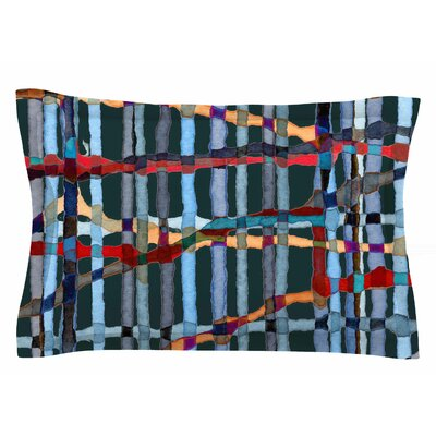 Patternmuse Midnight Bamboo Painting Sham Size: King