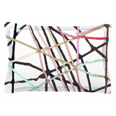 Patternmuse Love Tangle Watercolor Sham Size: Queen