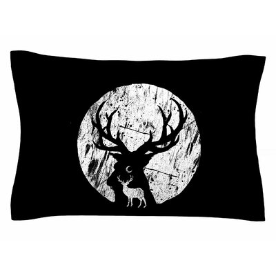 BarmalisiRTB Deer at Night Digital Sham Size: Queen
