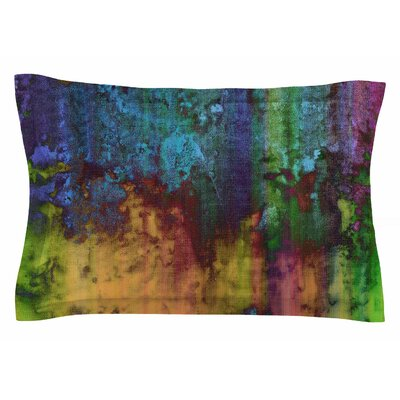 Nina May Rainbow Saltwater Painting Sham Size: Queen