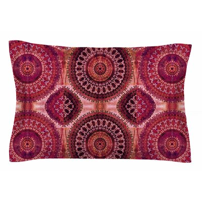 Nina May Magenta Mandala Stripe Mixed Media Sham Size: Queen