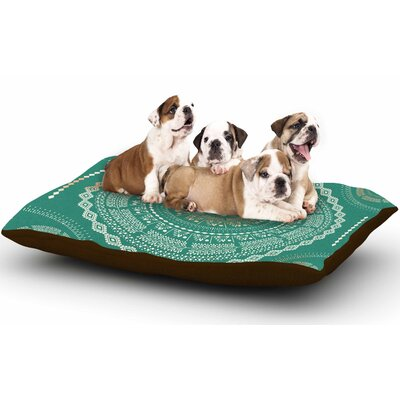 Famenxt Mint Medallion Dog Pillow with Fleece Cozy Top