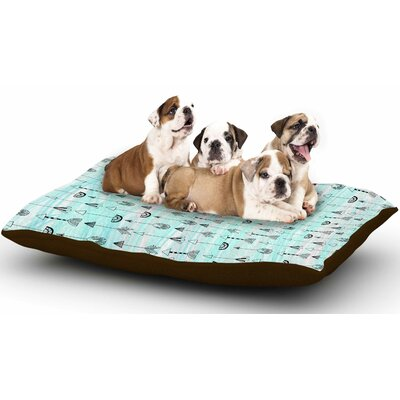 Danii Pollehn 'Mintyarrows' Dog Pillow with Fleece Cozy Top