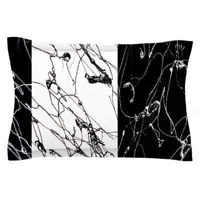 Nina May Neutra Splatter Mixed Media Sham Size: Queen