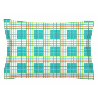 Afe Images Modern Plaid Illustration Sham Size: Queen