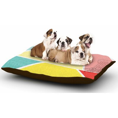 MaJoBV Cartagena Balconies Dog Pillow with Fleece Cozy Top
