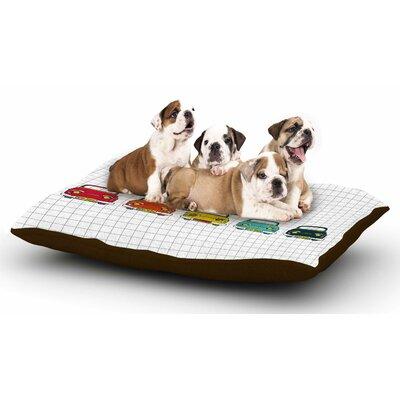 MaJoBV Boys Rock Cars Dog Pillow with Fleece Cozy Top